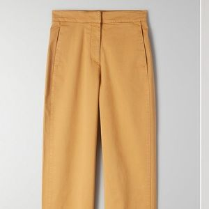 Aritzia Babaton Walsh Pant in Gold NWT